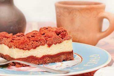 Кудрявый шоколадный пирог с творогом