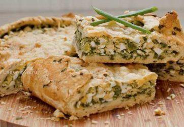 пирог с зеленом луком