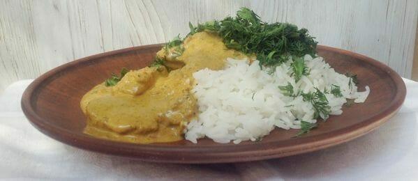 Курица карри масала - готовое блюдо по рецепту