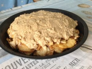 Яблочный пирог с корицей из цельнозерновой муки - Apple cobbler или яблочный крамбл - готовое блюдо по рецепту