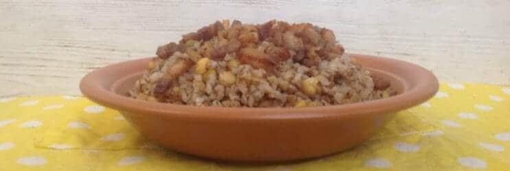 Гречневая каша с горохом и беконом - разнообразим гарниры - готовое блюдо по рецепту