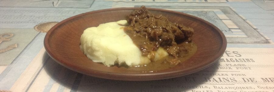 Тушеная говядина в пиве - готовое блюдо по рецепту